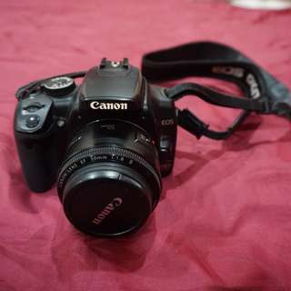 Canon 400D with 50mm lens