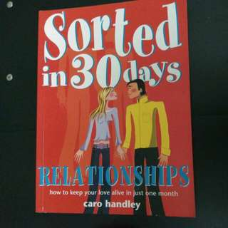 Relationships Sorted in 30 Days