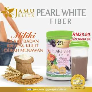 Pearl White Fiber by Jamu Jelita