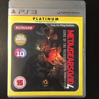 Metal Gear Solid 4 for PS3