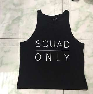 "Brand New ""Divided"" Squad Only Crop Top/ mid rib"
