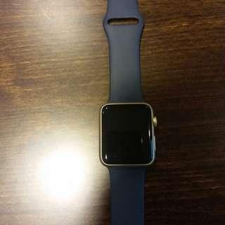 Apple Watch Series 1 gold sport blue 42mm