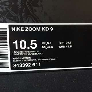 KD9s 9/10 condition size 10.5