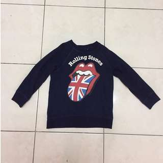 H&M Rolling Stones Boy Sweater Authentic Preloved