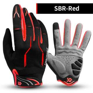 🆕! Red & Black full finger protective gloves for bicycle /Mountain bike /Fixed gear /fixie /bmx /road bike /Rollerblade /Escooter /hiking etc