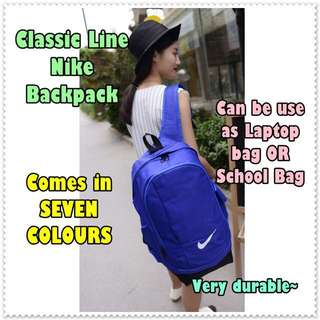 NIKE CLASSIC BACKPACK / School Bag / Laptop Bag