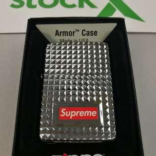 Supreme Zippo diamond cut
