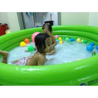 [new] 3 Ringed Inflatable Swimming Paddling Pool