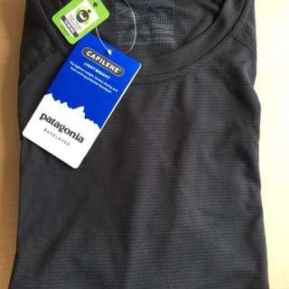 New Patagonia Capilene Lightweight Crew Baselayer, Black, Small