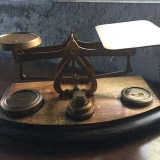 英國1930年黃銅信件秤