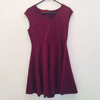 NEW Maroon Flare Dress