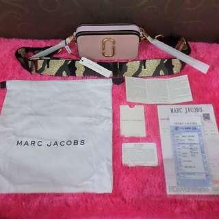 REPRICE!!! TERMURAH!!! MARC JACOBS SNAPSHOT BAG (PALE PINK)