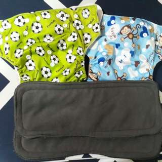 Cloth Diaper w/ 5 layer Bamboo Charcoal