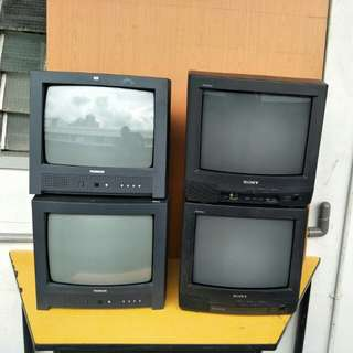 "14"" Inch Sony and Thomson Colour Tv @ $30 Each ( 4 pcs)"