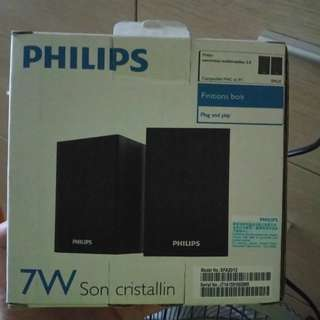 PHILIPS multimedia speakers 2.0 Works with MAC/pc