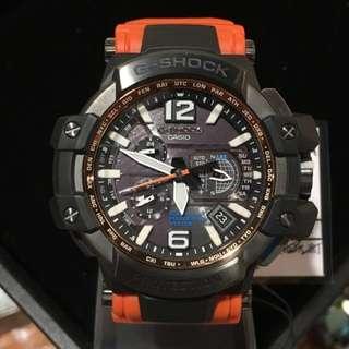 減價4300--->3800 gshock GPW1000 GPW-1000 GPW-1000-4A 橙色 橘色 orange made in JAPAN GPS 光動能 衛星錶
