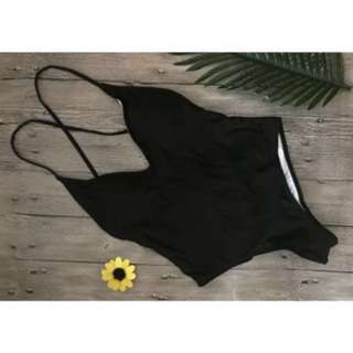 Black one piece swim