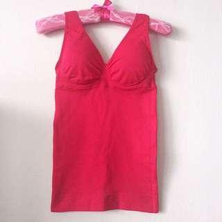 英國Belvia透氣無痕超纖瘦塑衣 桃紅S