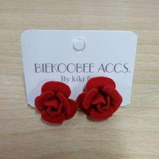 Flower Earrings (Red)