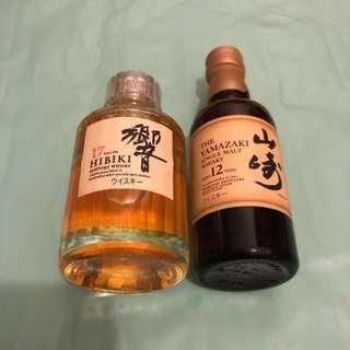 日本 「響17」及 「山崎12」酒辦 各1枝(50ml)