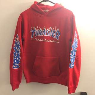 Rep Supreme Thrasher Red Hoodie