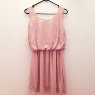 NEW Peach Flare Dress