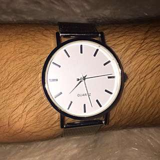 Unisex Silver Band Watch
