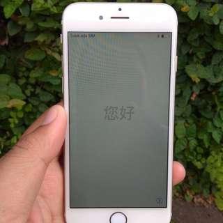 Jual iphone 6 64g gold lock icloud