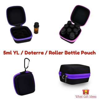 5ml Essential Oil Travel Pouch | 5ml Young Living Doterra Bottle Pouch | Essential Oil Travel Pouch | 5ml Glass bottle Pouch | 5ml Roller Bottle Pouch