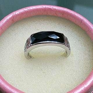 925 Sliver Onyx Ring