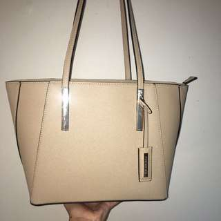 Beige/ Nude toned Forever New bag