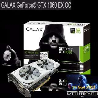 Galax GTX 1060 EXOC White 6GB GDDR5.