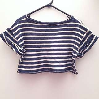 Strips Crop Top