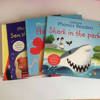 Complete set of 12 Usborne Phonics Readers. For First Readers.