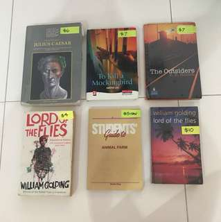 Secondary Literature books 10% OFF now Julius Caesar Animal Farm Lord of the flies The Outsiders