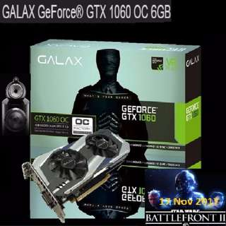 Galax GTX 1060 OC 6GB GDDR5.