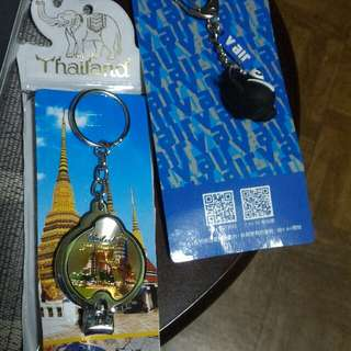 Repriced! Bundle #7 Thailand nail cutter keychain + airline keychain