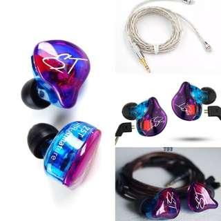💢Kz ZST Pro 雙動耳機➕手作銀線💢
