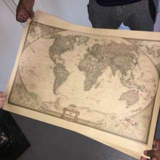 World map by national geographic
