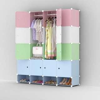 DIY 16 cubes wardrobe cabinet w/ shoe organizer rack