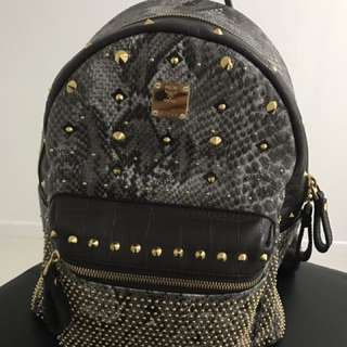 MCM small backpack in gray