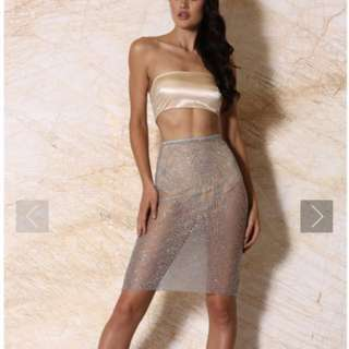 Meshki skirt and top set size 8
