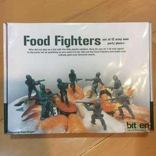 派對選取FOOD FIGHTERS(食物戰士牙簽bitten food fighetrs)交換禮物 / 聖誕節 / 士兵派對點心叉