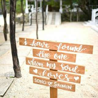 For rent wedding signs