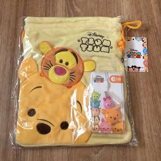 Pooh Bear Ezlink Charm with Pouch
