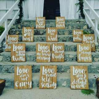 For rent Calligraphy wedding sign bible verse