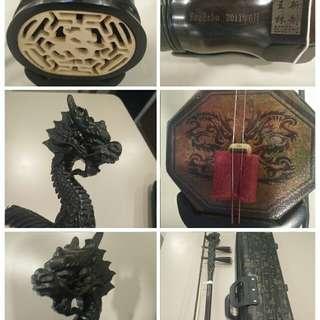 Multiple Tuning Black Sandalwood  3 in 1 Eco Erhu (Zhonghu, Erquan Er Hu, Normal Erhu) 二胡,二泉,中胡