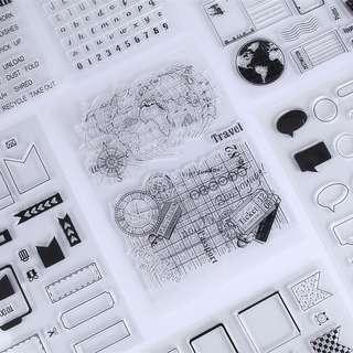 🚚 復古圖標印章 矽膠透明印章(現貨+預購) DIY相冊 卡片 手帳 裝飾 透明矽膠 郵戳 印章 卡片 交換禮物 手做 文具