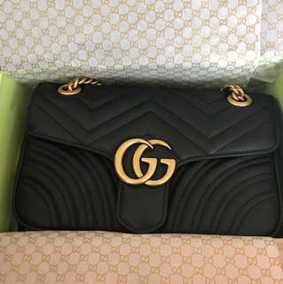 Authentic Gucci Marmont Small Black
