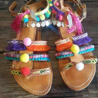 Colourful sandals 40